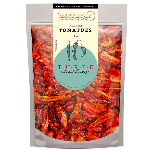 Semi Dried Tomatoes - Hickory Smoked (Canola Oil & Vinegar) - 2kg   [SDT-HS2KG]
