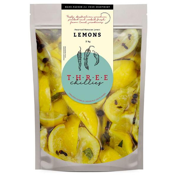 Lemons-Preserved Moroccan Style (Canola Oil & Spices) - 2kg  [PML2KG]