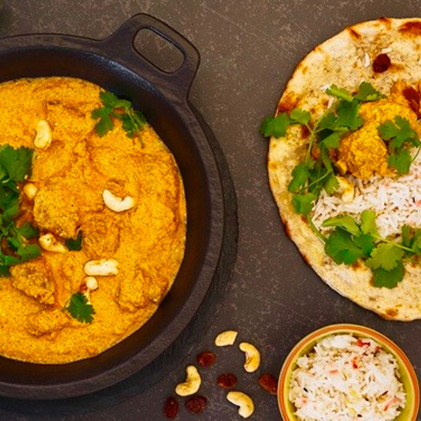 Chicken And Cashew Korma  (Served With Soft Fluffy Basmati Rice) Serves 2