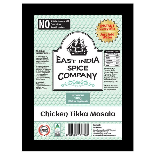 Tikka Masala Dry Spice Blend / Add Chicken (1kg)