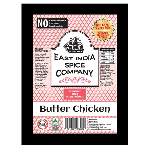 Butter Chicken Dry Spice Blend / Add Chicken & Cream (1kg)