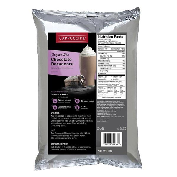 Chocolate Decadence Powder 1kg