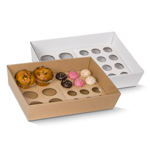 Cupcake Insert to Fit Small Tray - 12 Holes  251x142x12mm  50 Pcs/ctn