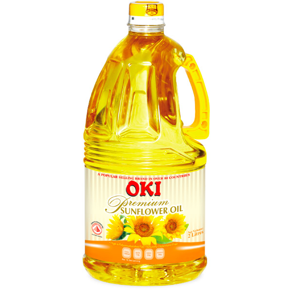 Oki Sunflower Oil (20lt Square Tin + Bung) - 100% RBDW sunflower oil