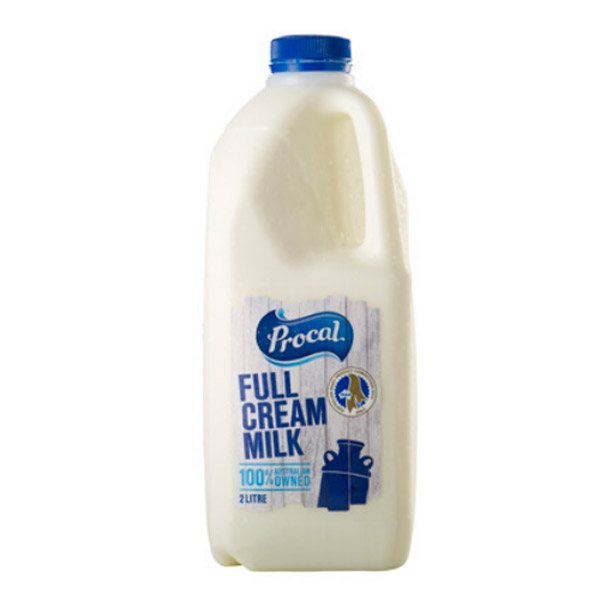 Milk - Full Cream Milk 6x2Ltr  Procal